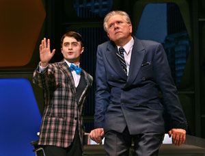 Daniel Radcliffe and John Larroquette in