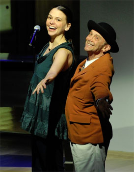 Sutton Foster and Joel Grey