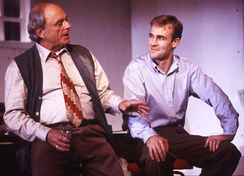 Harris Yulin and James Van Der Beek in Rain Dance(Photo © Joan Marcus)