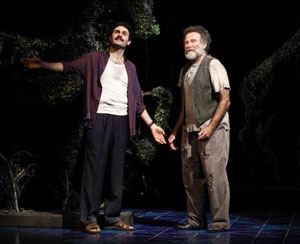 Arian Moayed and Robin Williams in