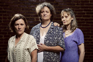 Sybil Lines, Nancy Robinette and Jennifer Mendenhall star in The New Electric Ballroom (© Scott Suchman)