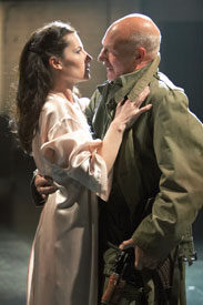 Kate Fleetwood and Patrick Stewart