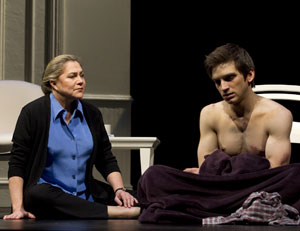 Kathleen Turner and Evan Jonigkeit in High
