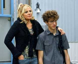 Kim Cattrall and Dustin Ingram in Meet Monica Velour