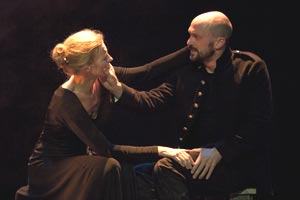 Anastasia Hille and Will Keen in Macbeth