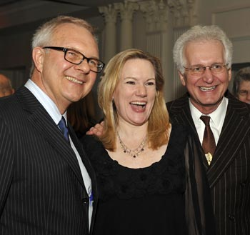 Walter Bobbie, Kathleen Marshall, and Jack Viertel