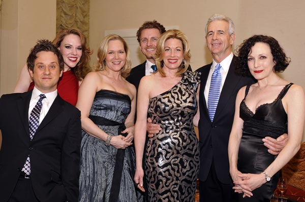 Christopher Fitzgerald, Emily Skinner, Rebecca Luker, Jason Danieley, Marin Mazzie, James Naughton, and Bebe Neuwirth