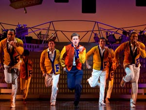 Aaron Tveit and company in Catch Me If You Can