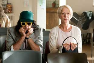 Russell Brand and Helen Mirren in Arthur