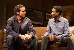 Bobby Cannavale and Chris Rock in The Motherf**ker with the Hat (© Joan Marcus)