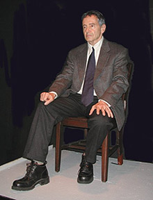 Allan Knee in The Trial of Klaus Barbie(Photo © Joseph Caffrey)