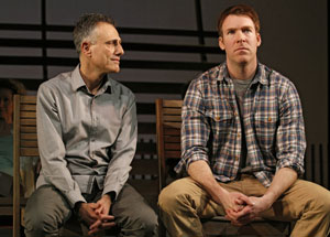 David Greenspan and Brian Hutchison in Go Back to Where You Are (© Joan Marcus)