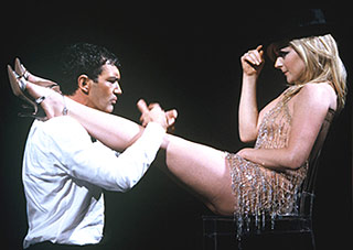 """A,"" ""B,"" and ""K"":Antonio Banderas and Jane Krakowski in Nine(Photo © Joan Marcus)"