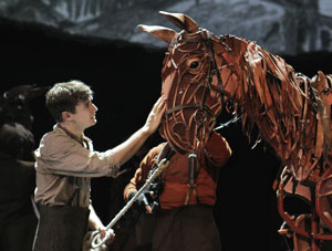 "Seth Numrich and ""Joey"" in War Horse
