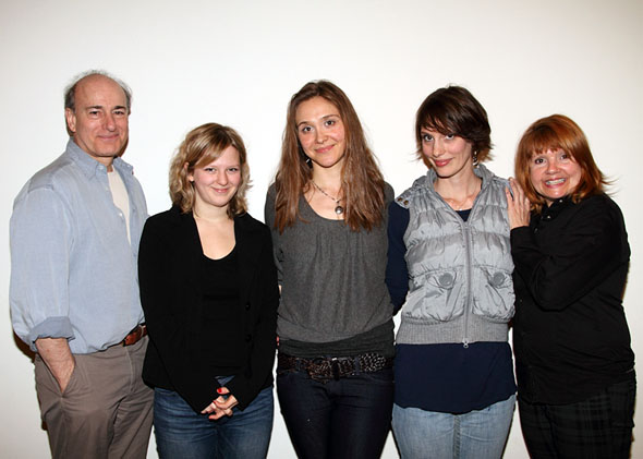 Peter Friedman, Emily Walton, Sarah Sokolovic, Jamey Hood, and Annie Golden