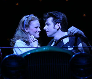 Jennifer Hope Wills and Andy Karl in Grease!(Photo © Gerry Goodstein)