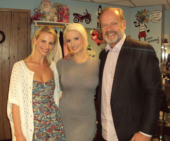 Kayte Walsh, Holly Madison, and Kelsey Grammer (Photo courtesy of the company)