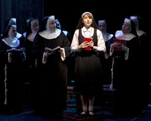 Marla Mindelle and company in Sister Act (© Joan Marcus)