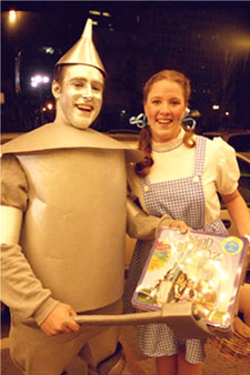 "Revelers at ""Sing-A-long Wizard of Oz"