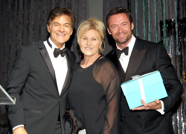 Dr. Oz, Deborra-Lee Furness, and Hugh Jackman