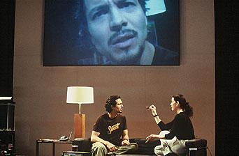 Benjamin Bratt and Julianna Margulies in Intrigue with Faye