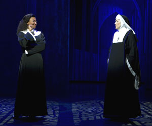 Patina Miller and Victoria Clark in Sister Act