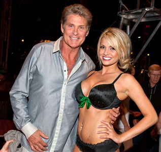 David Hasselhoff and Angel Porrino