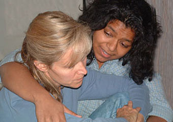 Lori-Nan Engler and Kavita Goyal in Cynthia Cooper&rsquo;s lesbian dramaStrange Lights at the Philadelphia Gay and Lesbian Theatre Festival