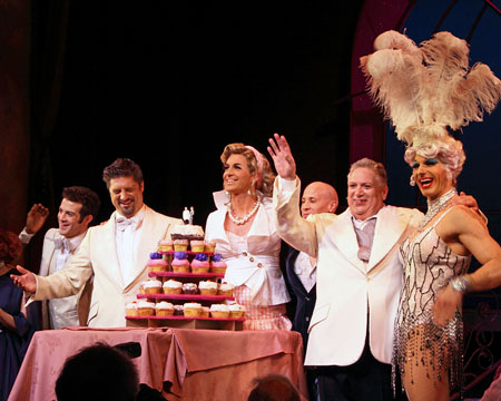 A.J. Shively, Christopher Sieber, Lili Whiteass, Harvey Fierstein, and Logan Keslar