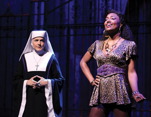 Victoria Clark and Patina Miller in Sister Act (© Joan Marcus)