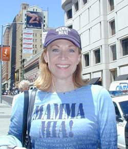 Dee Hoty in San Franciscoon the Mamma Mia! tour(Photo © Michael Portantiere)