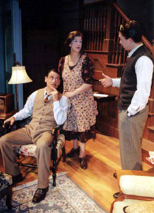 David Breitbarth, Barbara Redmond, andBryan Barter in Brighton Beach Memoirs(Photo © Kathleen Fahle)