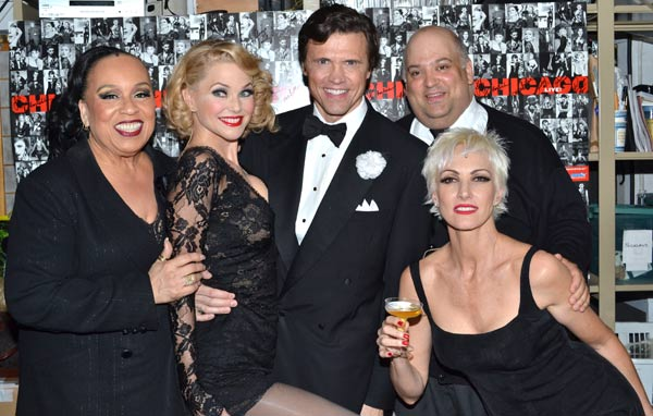 Roz Ryan, Christie Brinkley, Brent Barrett, Raymond Bokhour, and Amra-Faye Wright