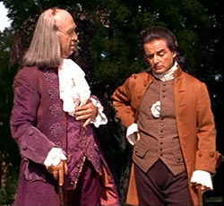 Howard Da Silva and William Daniels as FoundingFathers Ben Franklin and John Adams in 1776