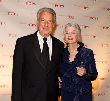 Michael Roth, Interpublic Group CEO, and Angela Lansbury