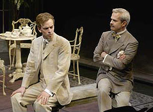 Dylan Trowbridge and Patrick Galligan in Widowers' Houses