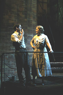 Robert Petkoff and Wendy Barrie-Wilson in The Glass Menagerie