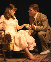 Katherine Kellgren and Kevin RolstoninThe Glass Menagerie