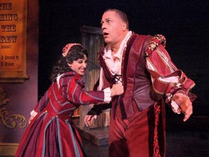Lesli Margherita and Tom Hewitt in Kiss Me, Kate