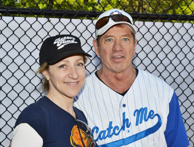 Edie Falco and Tom Wopat