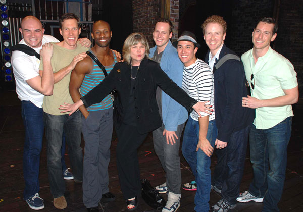 Debra Monk and company members of Paper Mill Playhouse's Curtains (© Shayne Austin Miller)