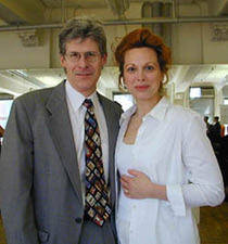 Ted Chapin with Carolee Carmello at arehearsal for the Paper Mill Playhouseproduction of The King and I(Photo © Michael Portantiere)