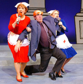 Ann Johnson, Mike Tilford, and Tracey Stephens inCapitol Steps: Between Iraq and a Hard Place(Photo © Richard Termine)