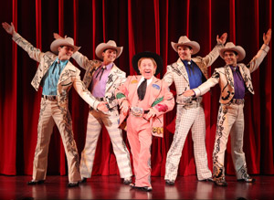 Leslie Jordan with the Buckaroos in Lucky Guy
