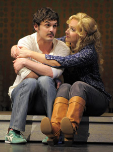 Wesley Taylor and Betsy Wolfe