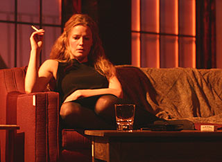 Elisabeth Shue smokes a cigarette in last season's Burn This(Photo © Rahav Segev)