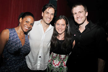 Audra McDonald, Will Swenson, Diane Paulus, and Gavin Creel