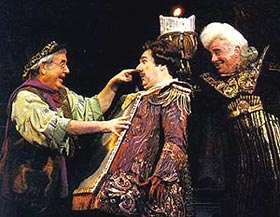 Bosley (left) in Beauty and the Beast