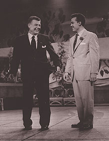 Arthur Godfrey and Julius LaRosa, whojoined the Kenley Players for Funny Girl