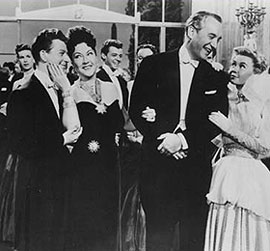 Ethel Merman (second from the left) reprised herrole in Call Me Madam in summer stock
